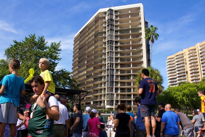 Miami's beautiful skyline... The 6th Annual Great Grove Race - Miami, 2014