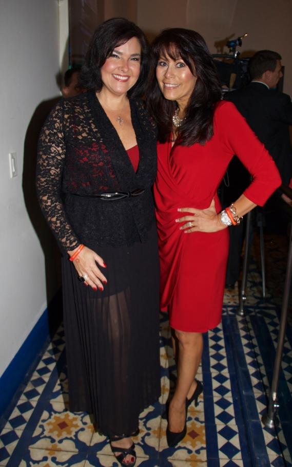 Publicist Extraordinaire Ana Margarita Martinez (L) with event coordinator Connie Sepulveda Rumbaut at the Glory House of Miami Fundraiser @ La Bodeguita, Coral Gables