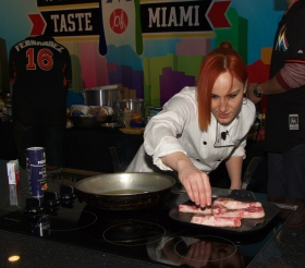 Chef Adrianne creates magic @ Taste of Miami 2015