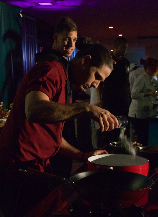 Poetry in motion - Chef James and Miami Marlin's José Fernandez team up @ Taste of Miami 2015