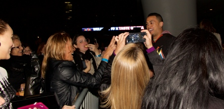 Giancarlo Stanton addresses his adoring fans @ Taste of Miami 2015