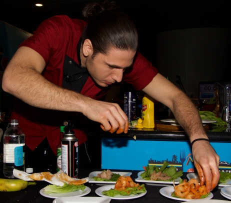Art with heart - Chef James @ Taste of Miami 2015