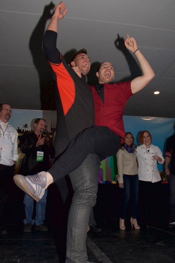 Miami Marlins pitcher José Fernandez (L) and Chef James Tahhan win Taste of Miami 2015!